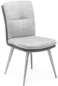 Krzesło EMILY - tkanina/ekoskóra szara