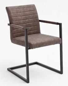 Krzesło z podłokietnikami KIAN A - vintage brąz