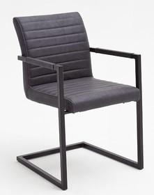 Krzesło z podłokietnikami KIAN A - vintage szary