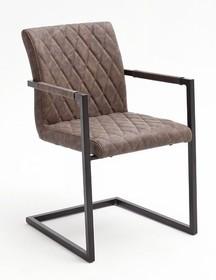Krzesło z podłokietnikami KIAN B - vintage brąz