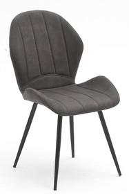 Krzesło tapicerowane LIMA - antracyt antik