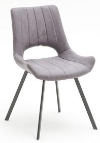 Krzesło tapicerowane OLYMPIA - szary