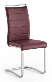 Krzesło na płozie PESCARA - bordowy