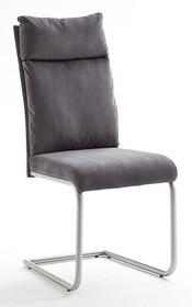 Krzesło tapicerowane PIA - szenil antracyt