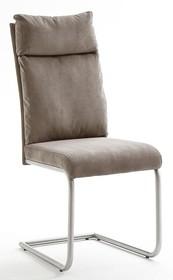 Krzesło tapicerowane PIA - szenil piaskowy