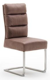 Krzesło ROCHESTER E - antik cappuccino/stal