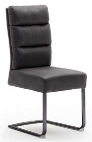 Krzesło ROCHESTER S - antik szary/czarny mat