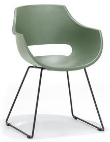 Krzesło na płozach ROCKVILLE K - zielony/czarny mat