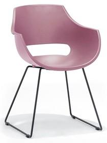 Krzesło na płozach ROCKVILLE K - różowy/czarny mat