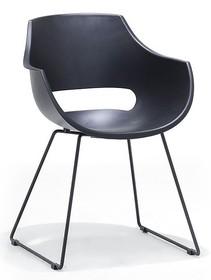 Krzesło na płozach ROCKVILLE K - czarny/czarny mat