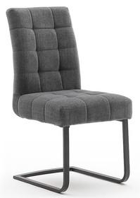 Krzesło plamoodporne SALTA - ciemnoszary