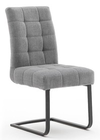 Krzesło plamoodporne SALTA - jasnoszary