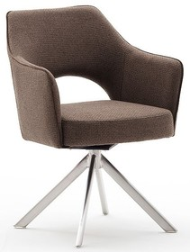 Krzesło obrotowe TONALA E - cappuccino/stal