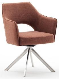 Krzesło obrotowe TONALA E - brązoworudy/stal
