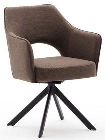 Krzesło obrotowe TONALA S - cappuccino/czarny mat