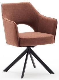 Krzesło obrotowe TONALA S - brązoworudy/czarny mat