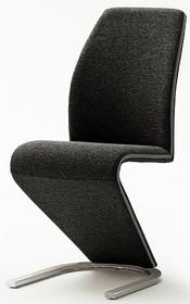 Krzesło tapicerowane VIRGINIA - czarny