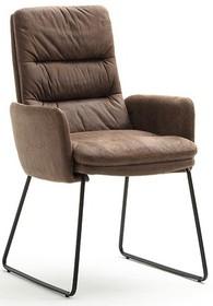 Krzesło z podłokietnikami WESTMINSTER - antik brąz