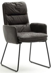 Krzesło z podłokietnikami WESTMINSTER - antik szary