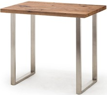 Stół barowy CASTELLO - dąb bassano/stal