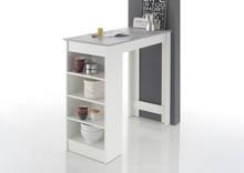 Stół barowy MOJITO - biały mat/optyka betonu