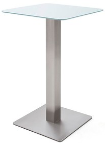 Kwadratowy stolik barowy ZARINA 2 - biały mat
