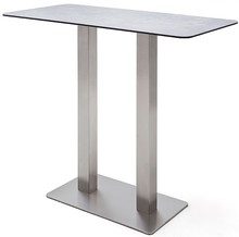 Prostokątny stół barowy ZARINA 3 - jasnoszary
