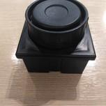 Regulator kwadratowy przeznaczony do nogi o przekroju 60 mm x 60 mm. Regulacja wysokości +20 mm. Wykonany z tworzywa sztucznego w kolorze czarnym.