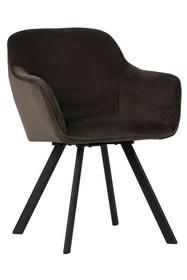 Zestaw 2 krzeseł VIGGO velvet - antracyt