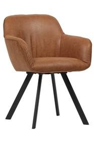 Zestaw 2 krzeseł VIGGO - koniakowe