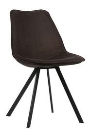 Zestaw 2 krzeseł SWEN velvet antracytowe