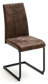 Krzesło AOSTA - tkanina vintage brąz