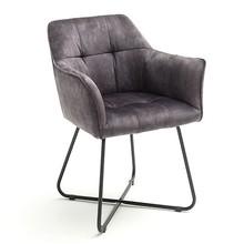 Krzesło z podłokietnikami PANAMA - antracyt