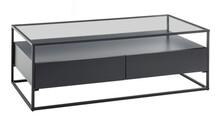 Ława z 2 szufladami EVORA 120x60 - czarny mat