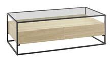 Ława z 2 szufladami EVORA 120x60 - dąb mat