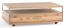 Stolik na kółkach ESPERO 65 - dąb bianco