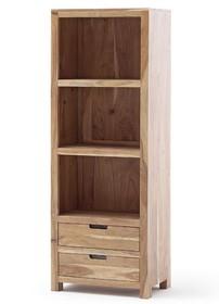 Regał z szufladami WILLOW 33 - drewno akacjowe