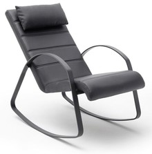 Fotel bujany relax MASKAT - czarny