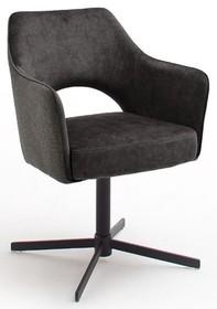 Krzesło obrotowe na sprężynach VALETTA - antracyt