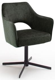 Krzesło obrotowe na sprężynach VALETTA - oliwkowy