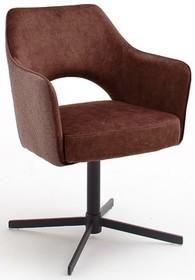 Krzesło obrotowe na sprężynach VALETTA - brązoworudy
