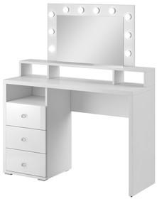 Toaletka z szufladami DIVA - biały mat