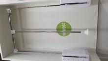 Wyposażenie szaf Pantograf aluminiowy BIAŁY szerokość 83-115cm - Valcomp