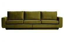 Sofa 3-osobowa FAME aksamit oliwkowy