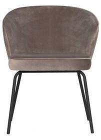 Krzesło do jadalni ADMIT - aksamit khaki