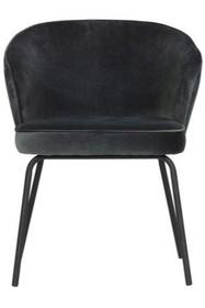 Krzesło do jadalni ADMIT - aksamit niebieski/stalowy