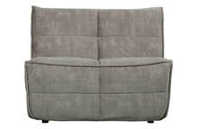 Sofa CLUSTER 1-seater velvet iron