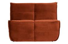Sofa CLUSTER 1-seater velvet rust