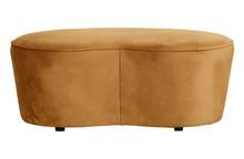 Mała sofa MACARONI 110cm - velvet mustard