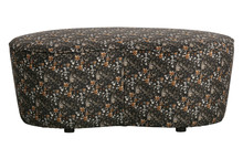Mała sofa MACARONI 110cm velvet aquarel flower black